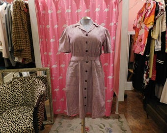 1940's- 50 True Vintage / Day dress/ pin- up /