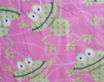 Hopping Frogs Fleece Fabric (29 inches)