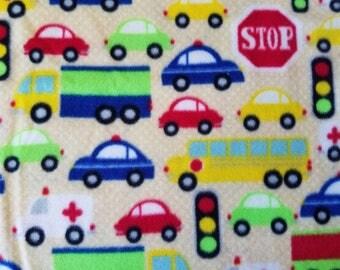 Vehicles Fleece Fabric (17 inches)