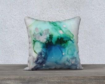 """18 x 18"""" Pillow case - Fire Jellyfish"""