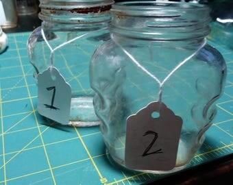Antique Brylcreem jars