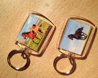 2 door keys horse
