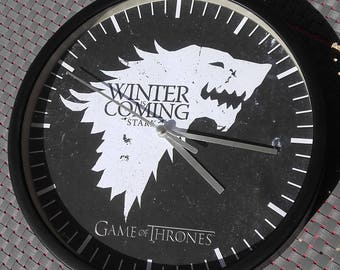 Clock wall game of thrones