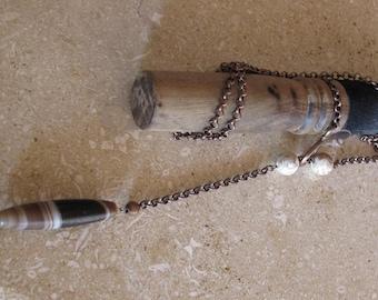 Old Tibetan bead focal  chain