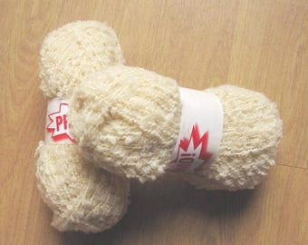 5 Promo ecru Astrakhan wool balls