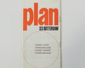 SS Rotterdam Holland America Line Ocean Liner 1964 Deck Plan Tourist Class