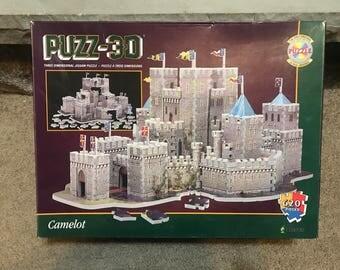 PUZZ 3D Jigsaw Puzzle Camelot 620 Pieces Milton Bradley