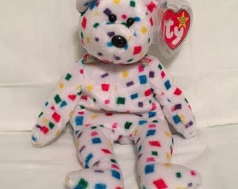 TY Beanie Baby - TY 2K the Colorful Bear - Pristine with Mint Tags - RETIRED