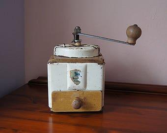 Vintage Coffee Grinder, Metal Coffee Grinder, Coffee Mill.