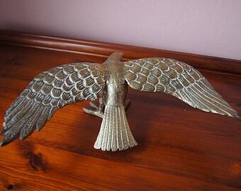 Vintage solid brass eagle statue.