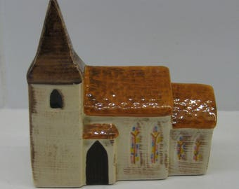 Carlton Ware model of The Church from the Carlton Village series of model buildings. Vintage Carltonware.