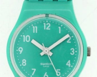 Limited edition quartz Swatch watch with long strap ca.2000