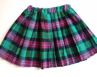 Vintage girls pleated skirt