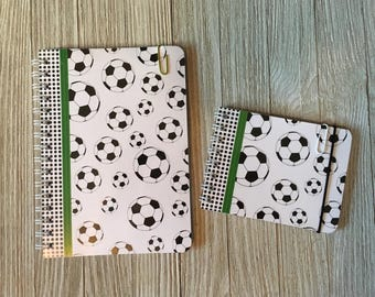 Set of 2 Personalized Notebooks/Journals - Soccer Theme
