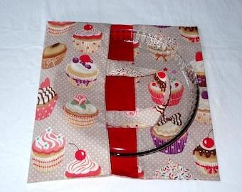 Cupcakes - door-tart - pie bag / Red