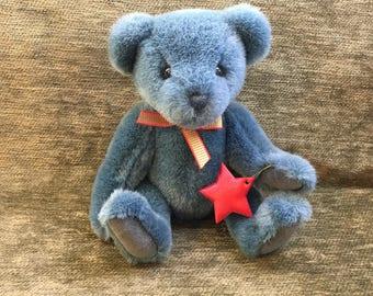 Gund Teddy Bear, Limited Edition, 1994, Gund Plush Bear, Jointed Bear, Gund Collectible Bear