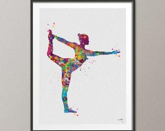 Natarajasana, Yoga Pose, Yoga Poster, Yoga Pose, Yoga Print, Yoga Watercolor, Yoga Studio, Yoga Decor, Lord of the Dance, Yogi Gift-1203