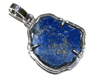 azurite pendant silver 925%