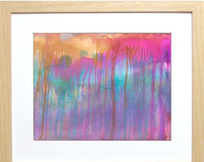 SALE Original Wall Art Painting - Colorful Abstract Painting - Alcohol Ink