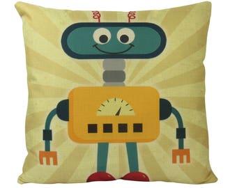 Robot Pillow Etsy