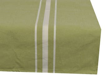 Square tablecloth fabric 150X150cm pastel green