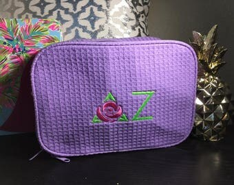 Delta Zeta Large 2 compartment Cosmetic case