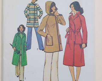 Simplicity Jacket Coat Pattern Sizes 6-8  #7936