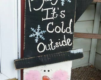 Handmade snowman indoor and outdoor use