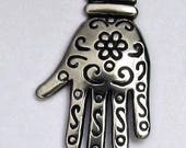 "Decorated Hand Charm - 1"" High x 1/2"" Wide - C704"