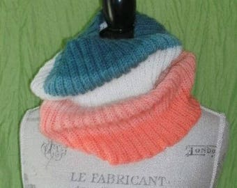 Fresh Style Cowl, Hand Knit, Scarf, Cowl ,Infinity, Hand Knitted, Yarn Pegasus
