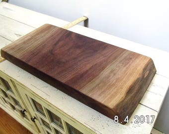 FREE SHIPPING!!  Black Walnut Live Edge Footed Serving Board