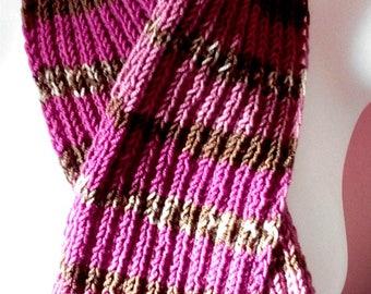 Soft multicolor scarf - wool + acrylic