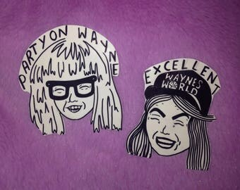 Wayne's World BFF Pin Badge Set