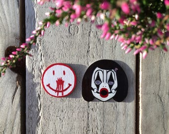 Cult Clown Pin Badge Collection