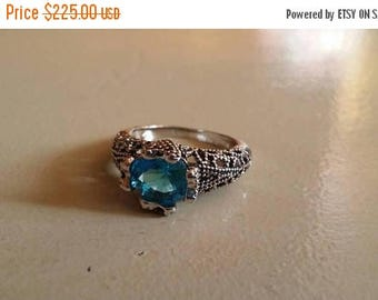 Holiday SALE 85 % OFF Tanzanite  Size 7 Ring Gemstone. 925 Sterling  Silver