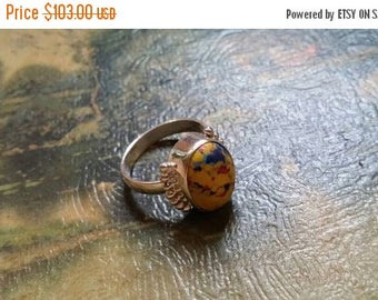 Holiday SALE 85 % OFF Picasso Jasper Size 8.5 Ring Gemstone. 925 Sterling  Silver Etsy Gift