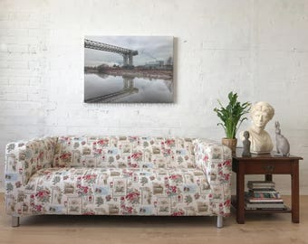Quick dispatch Ikea Klippan 2 seat sofa Slip Cover in unique Wild Flower print Cotton Fabric