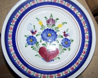 "11-1/2"" Plate Handpainted Ceramic in old world style made in Austria"