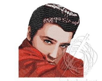 Elvis Presley - Machine Embroidery Design - Instant Download - Three sizes