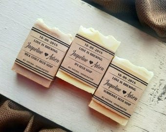 Love Is Brewing Party Favor, Beer Soap bridal shower favors, beer bridal shower favors, Let love brew, brewery wedding gifts for guests