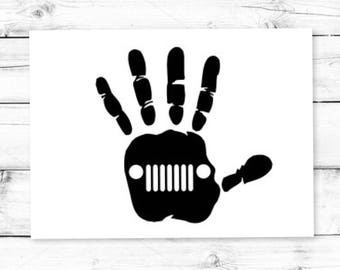 Jeep Wave // Decal // Jeep Wave // Yeti Decal