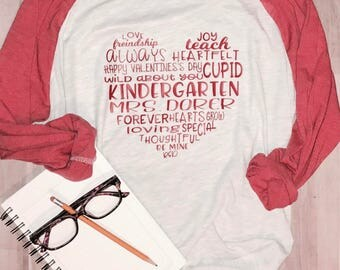 Subway Art Teacher/Heart/Teaching/Valentine T-Shirt