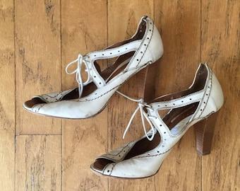 White Shoes - Aberto Fermani