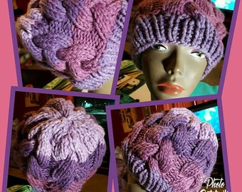 Women's Hand Knitted Cabled Beanie
