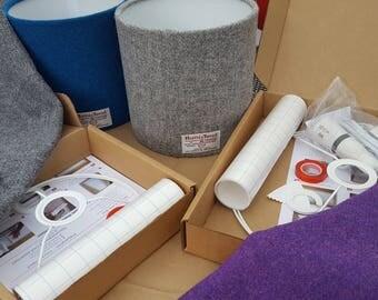 harris tweed lampshade making kit us compatable
