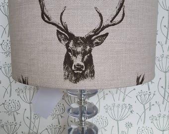 Handmade Lampshade - Stag - Scottish style