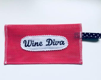 Hot Pink Wine Diva clutch