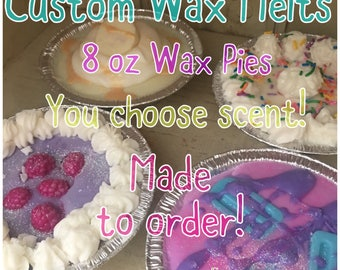 Custom Soy Wax Coconut Blend Melt  - Wax Pies - You Choose Scent Wax Melts Stocking Stuffer Christmas Gifts