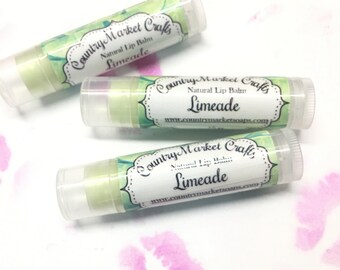 Limeade Lip Balm Natural Bees Wax Lip Balm - Stocking Stuffer Stocking Stuffer Christmas Gifts