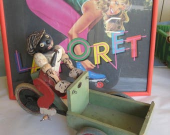 Rare Antique 19C Black French Folk Art Toy that we have owned for 30 years, that needs restoring.